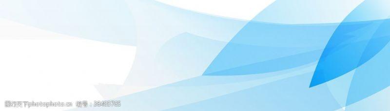 蓝色展板模板花瓣蓝色大气背景