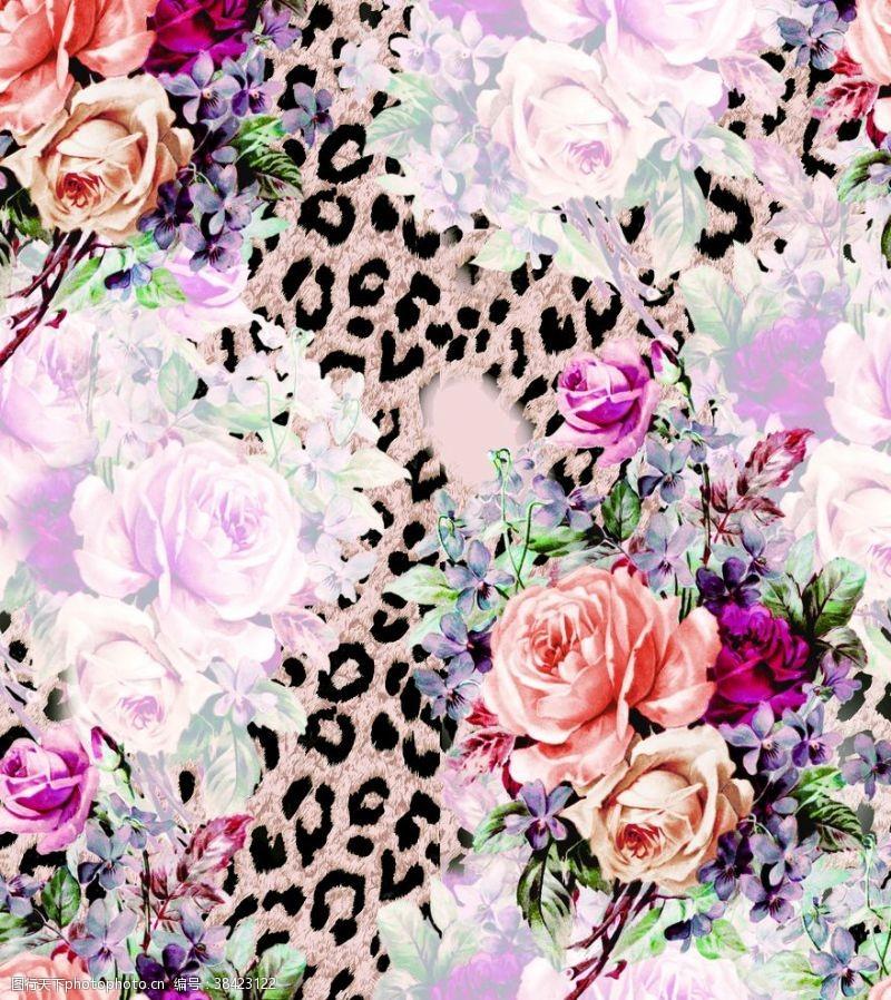 漂亮的花朵花朵豹纹花