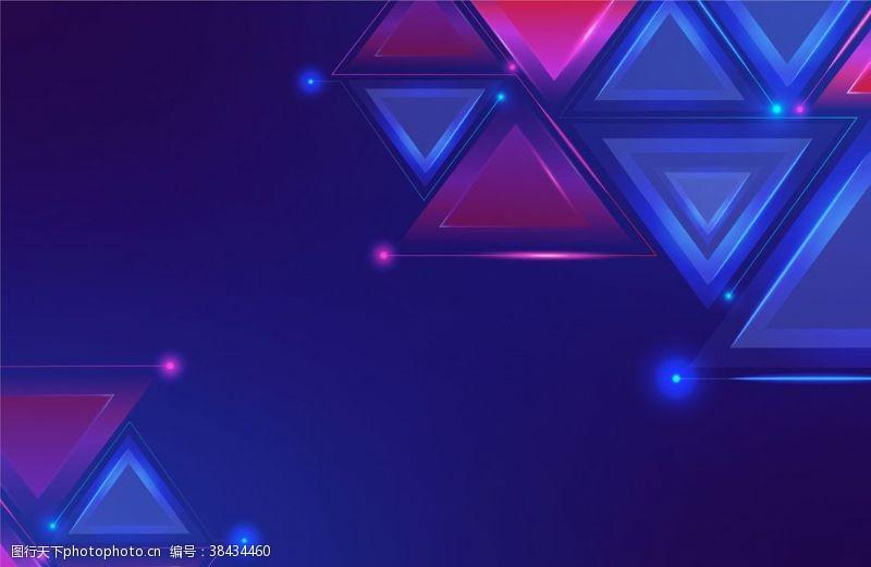 ai元素三角形背景