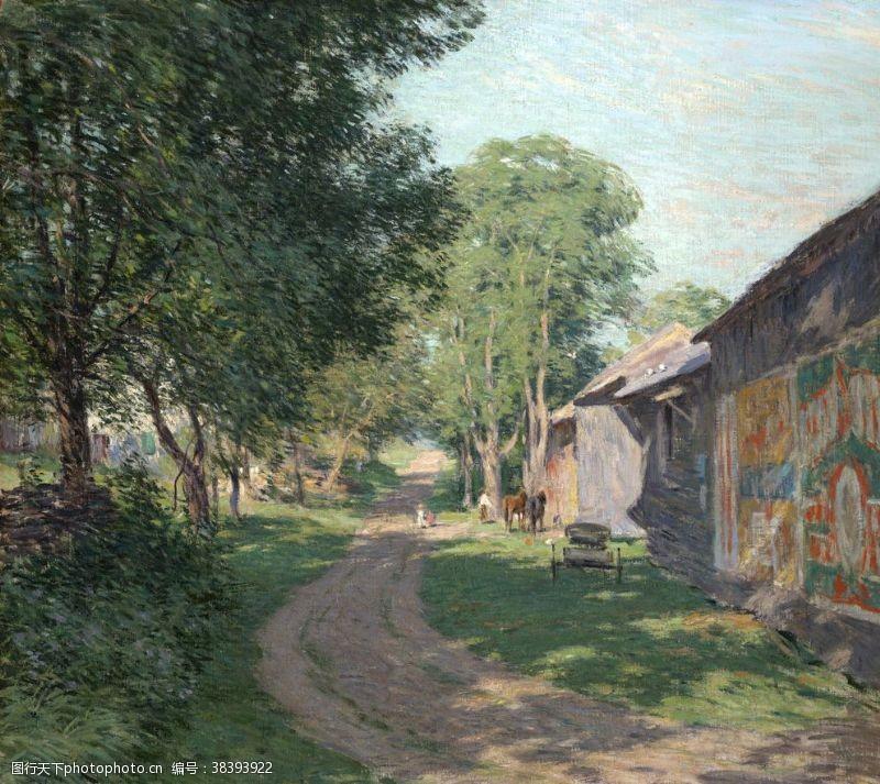 威拉德·梅特卡夫风景油画作品