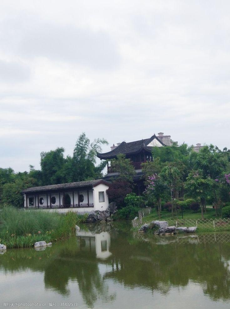 公园湖泊园林