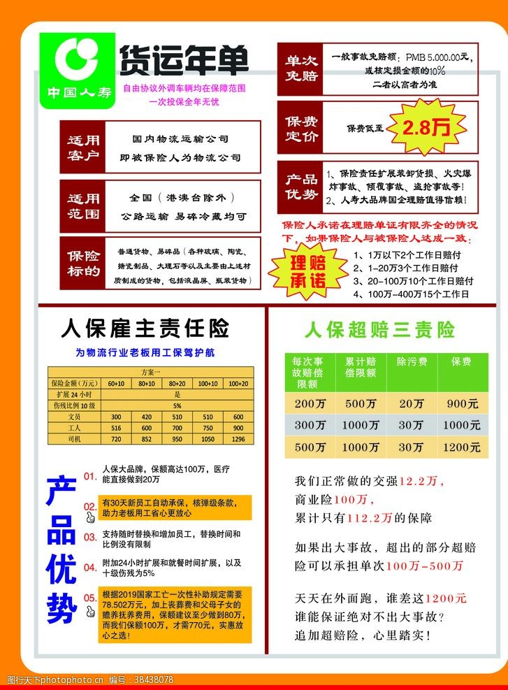 保险易拉宝中国人寿人保彩页