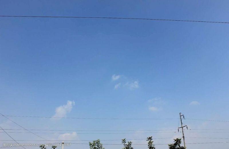 旅游蓝天白云
