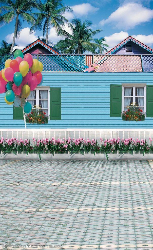 背景图片房子背景