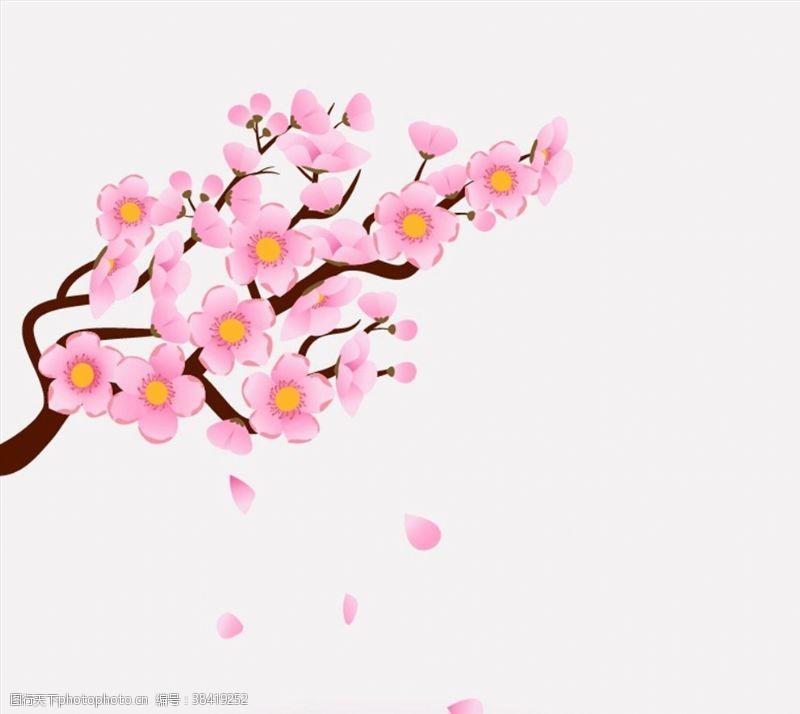 粉红色樱花树