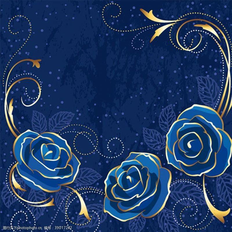 矢量图 高贵优雅花朵玫瑰花图片