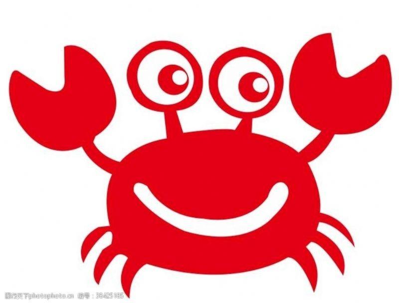 俏皮矢量卡通螃蟹