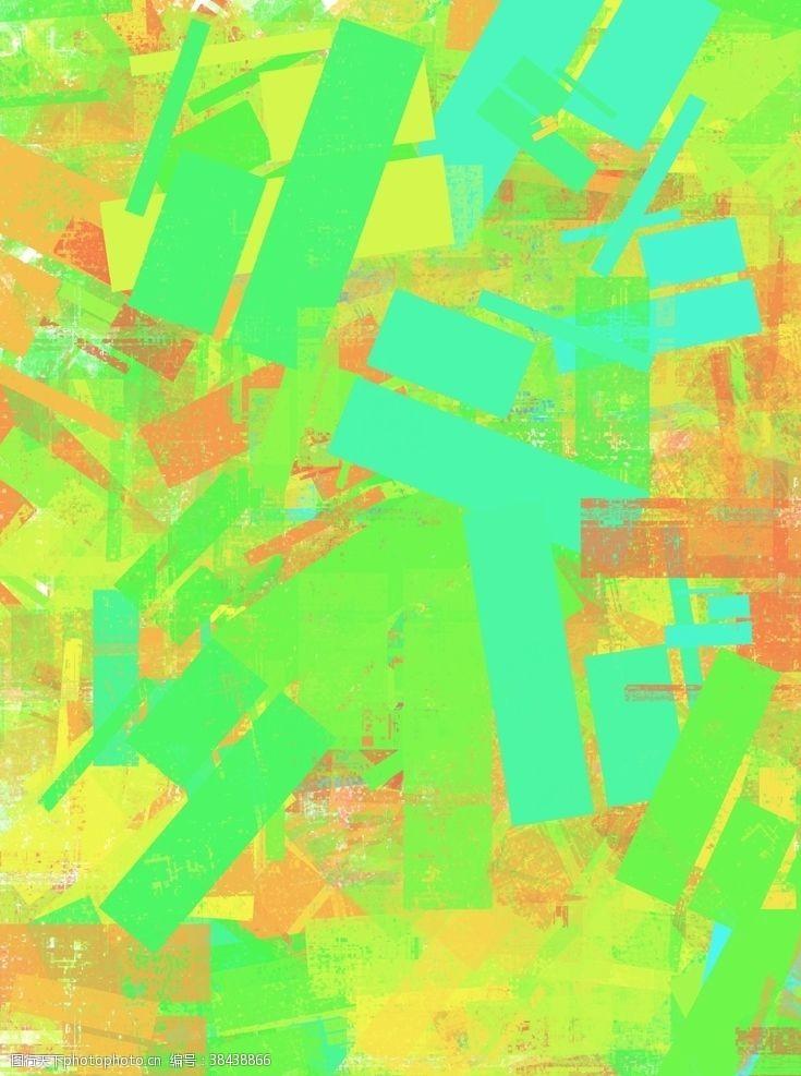 炫酷黄橙绿蓝背景图片素材