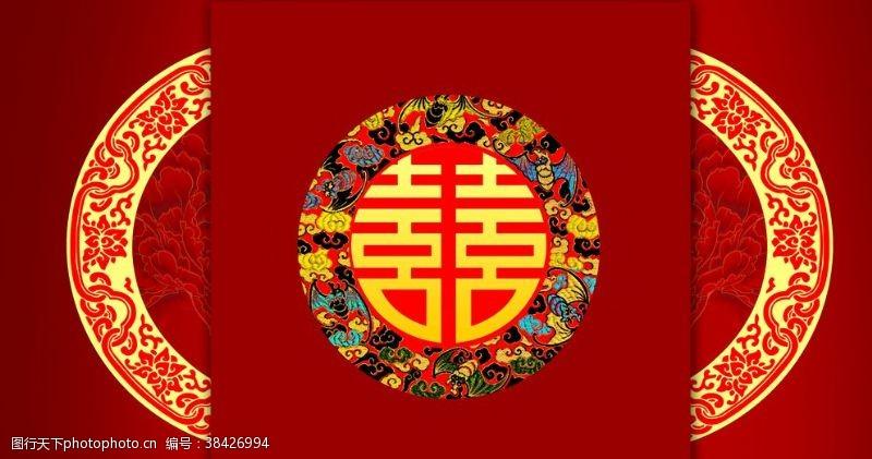 中国风大红喜庆背景