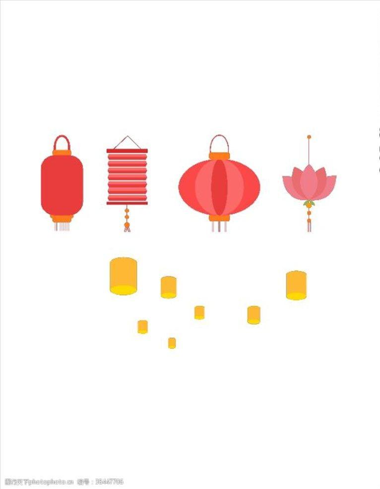 中式灯笼中秋装饰灯笼