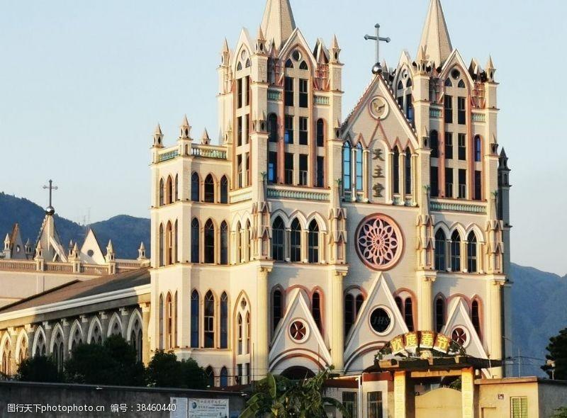 城市风光教堂