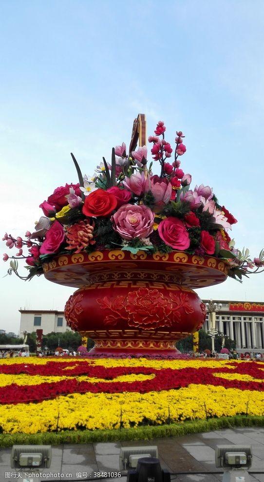 北京天安门天安门广场大花篮