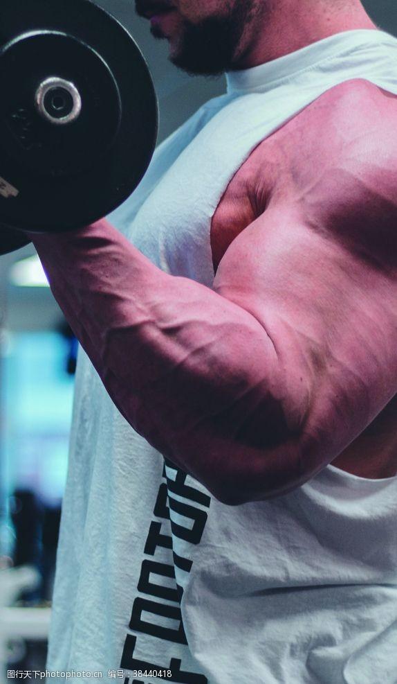 运动健身肌肉健身房人物