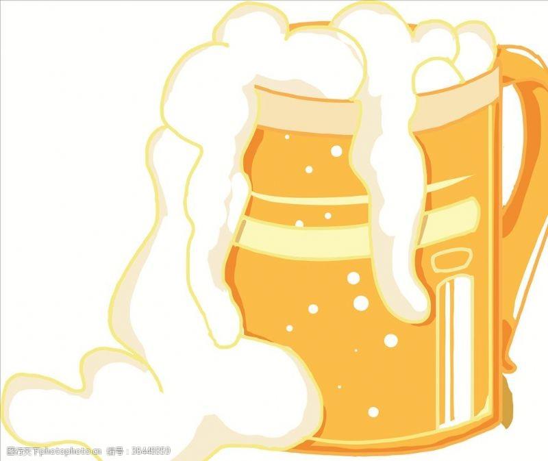 开业促销活动卡通啤酒矢量图
