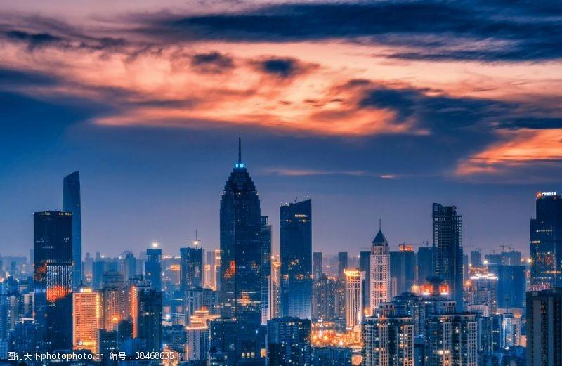 武汉城市风光西北湖金融街