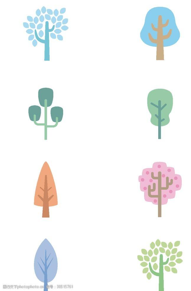 树木卡通图标
