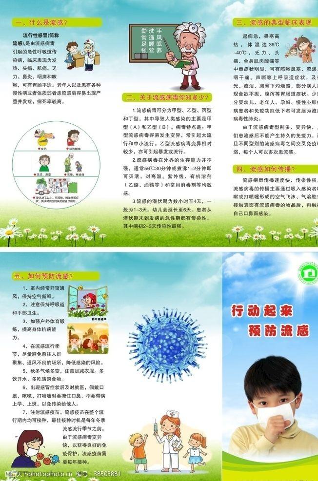 流感常识预防流感折页