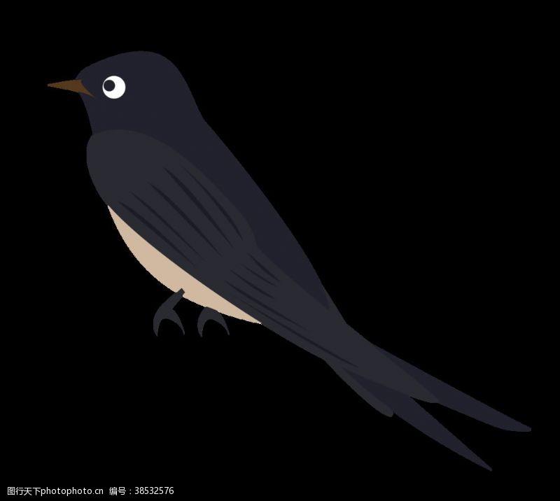 小鸟插画免扣燕子素材