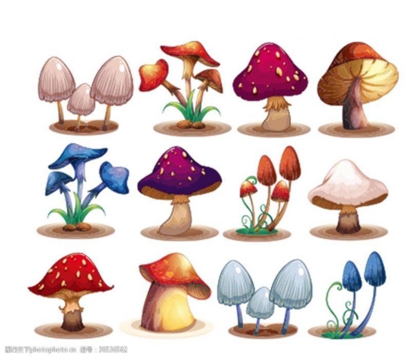 人物造型卡通蘑菇
