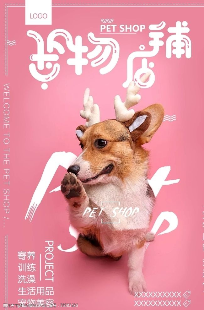 宠物店促销宠物海报
