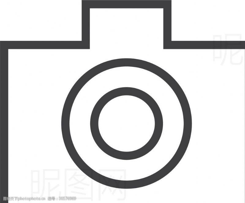 男女标志照相机