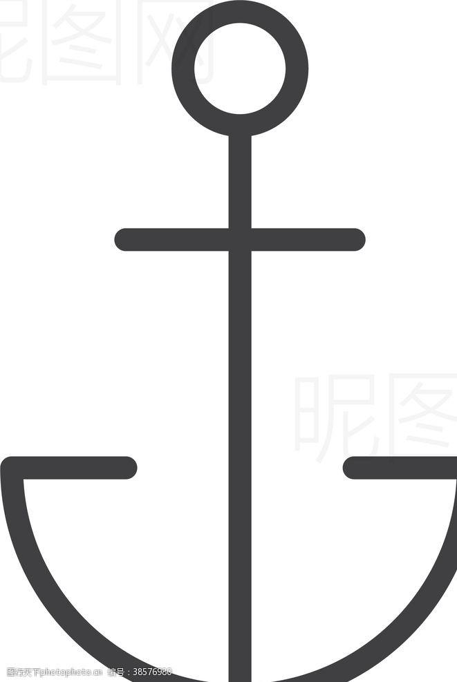 男女标志船锚