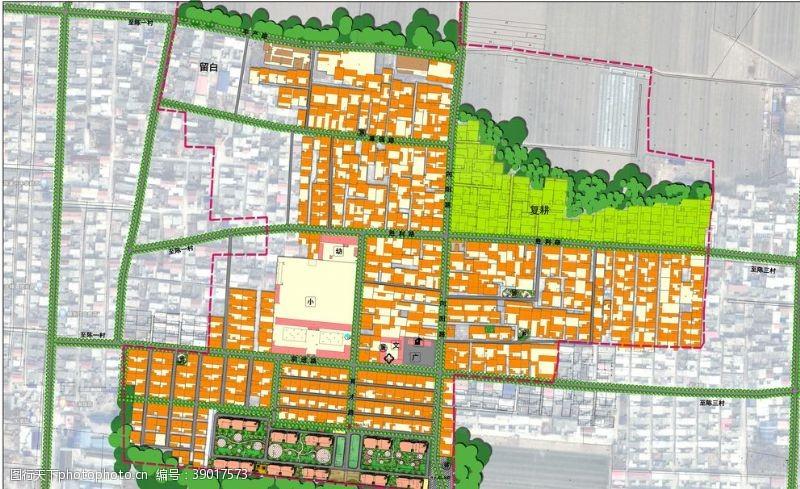 规划图 村庄居民点规划总平面图图片