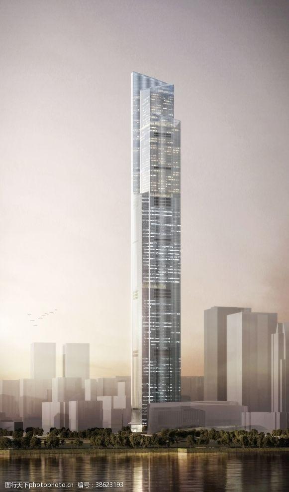 高建筑广州周大福金融中心世界十高