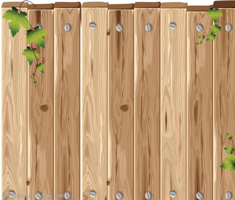 绿叶藤卡通木头矢量木头木纹木质