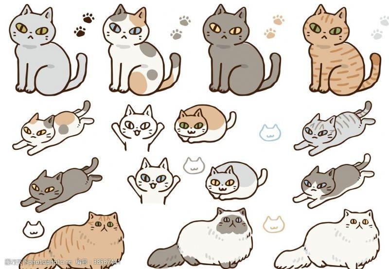 肥猫卡通小猫
