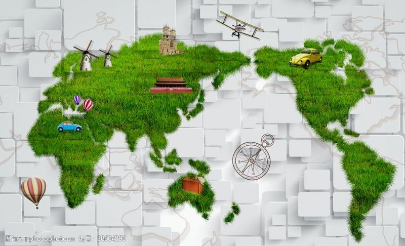 世界地图简笔画