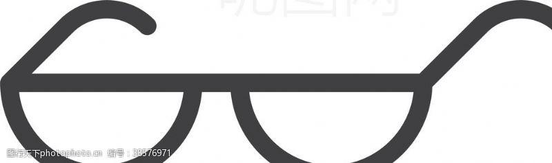 男女标志眼镜