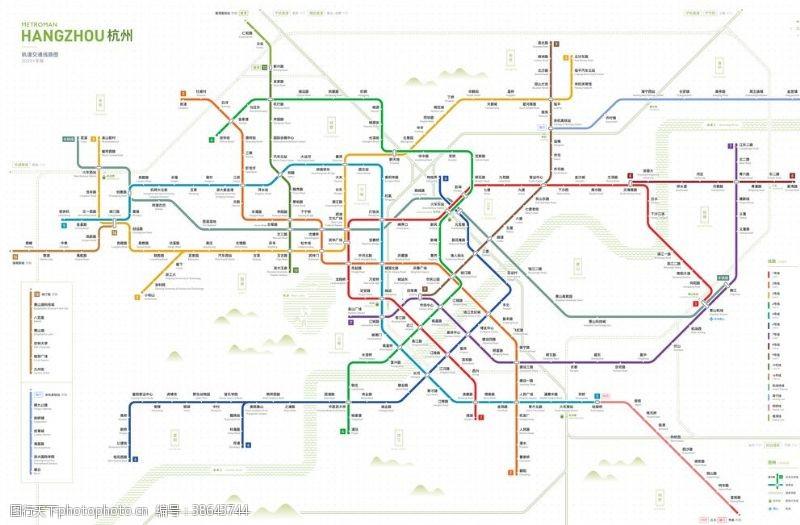 余杭2022杭州地铁交通图