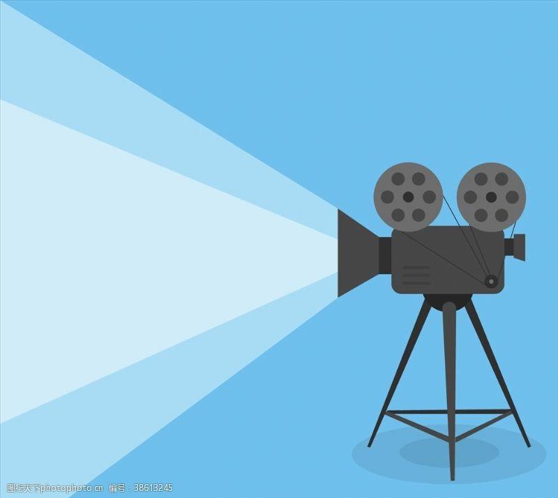 卡通电影放映机
