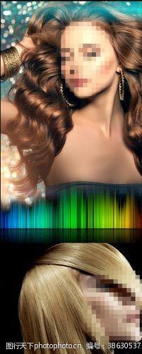 美容美发海报美容美发模特