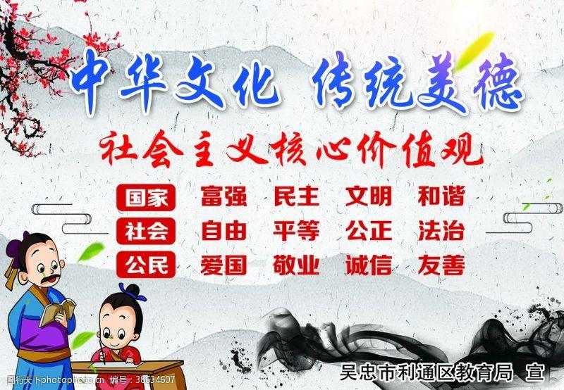 道德文化展板中华文化