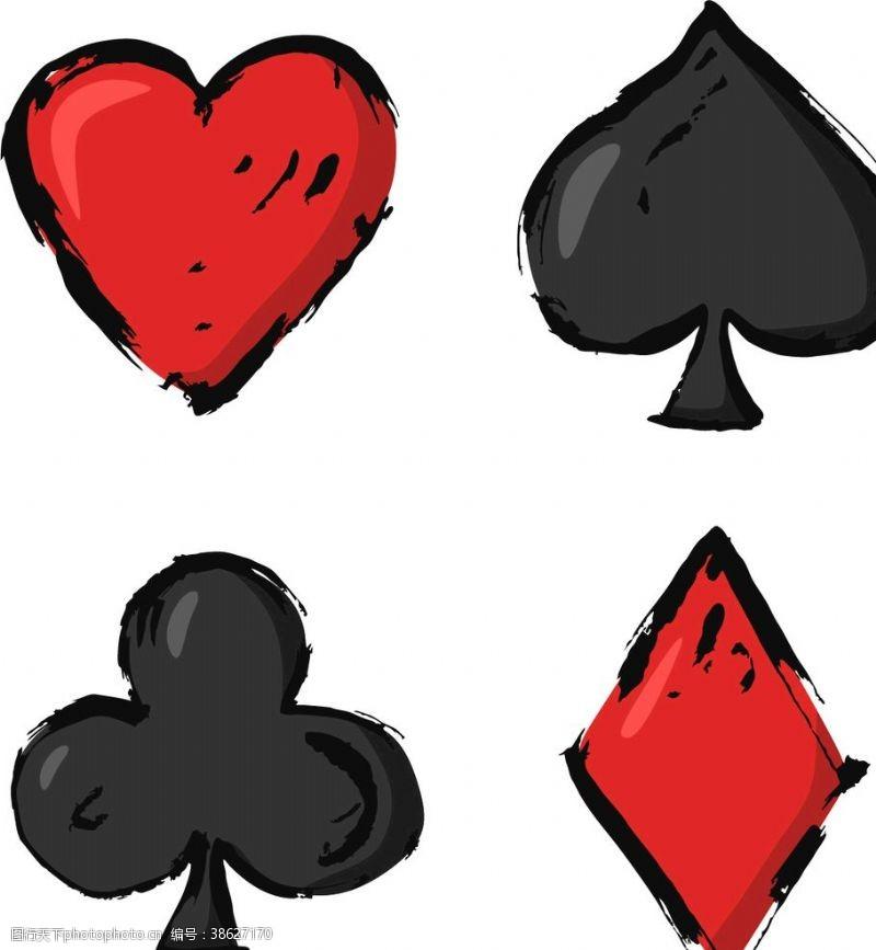 扑克牌四色图案