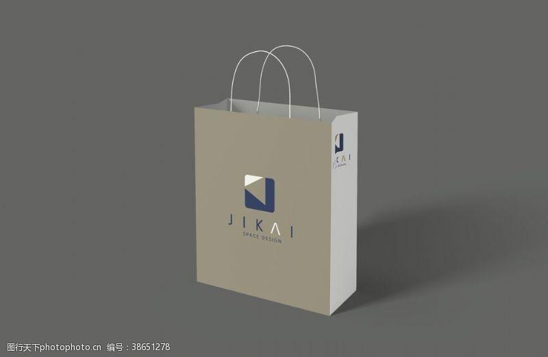 手提袋素材手提购物纸袋PSD包装样机