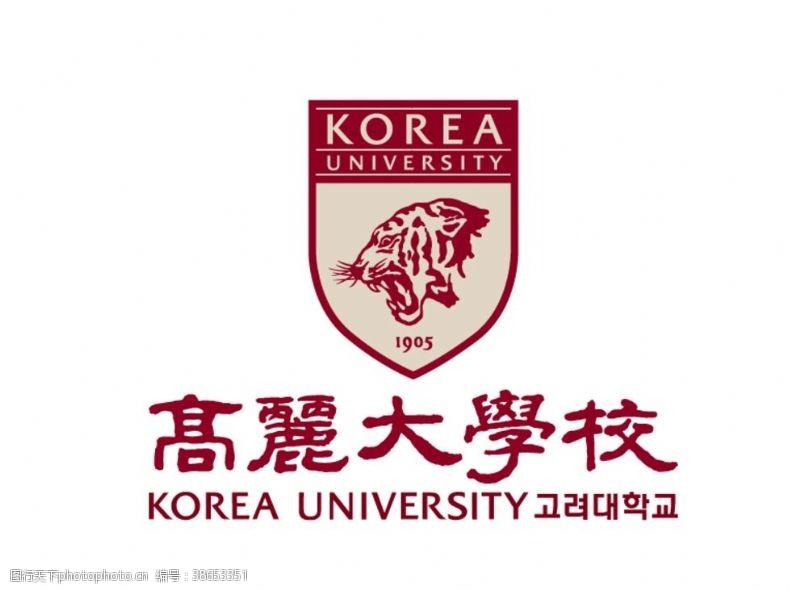 私立大学高丽大学校校徽标志LOGO