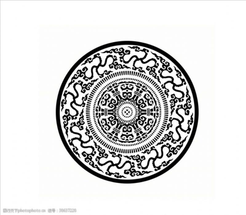 花纹效果圆圈花纹