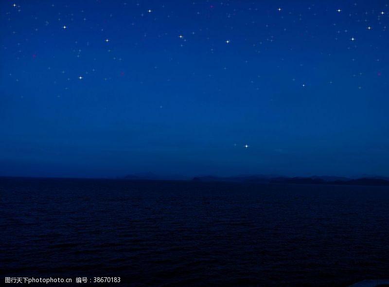 夜晚的天空星空
