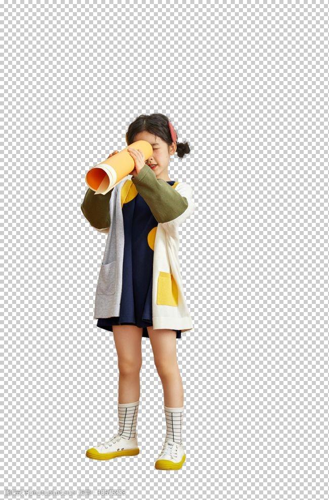 时尚模特可爱的小女孩