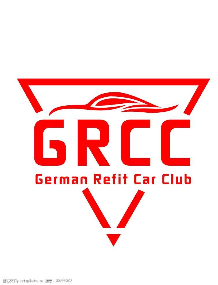 三角形标志GRCC老鹰logo