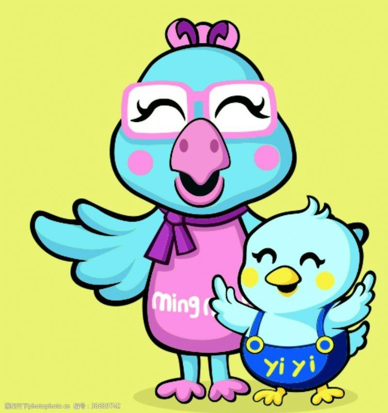 可爱小鸟卡通鸟