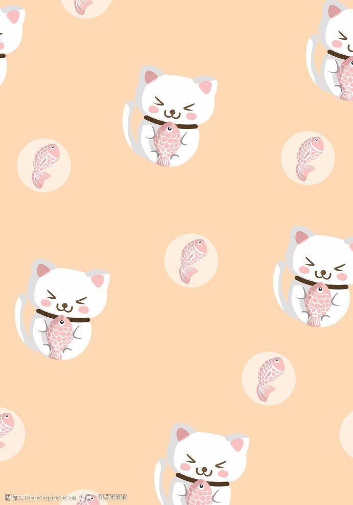手绘壁纸小馋猫