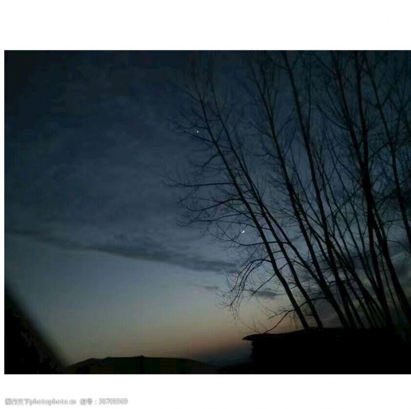 夜晚的天空夜晚