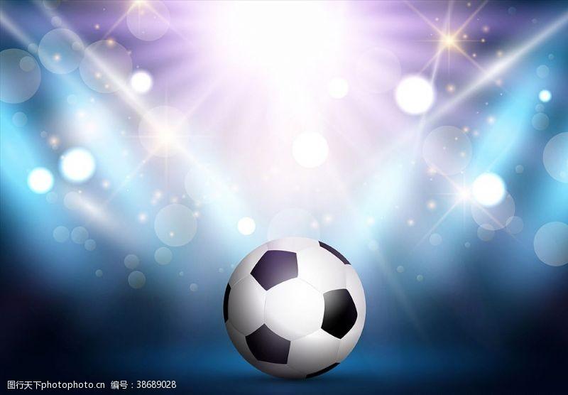 体育设计足球背景