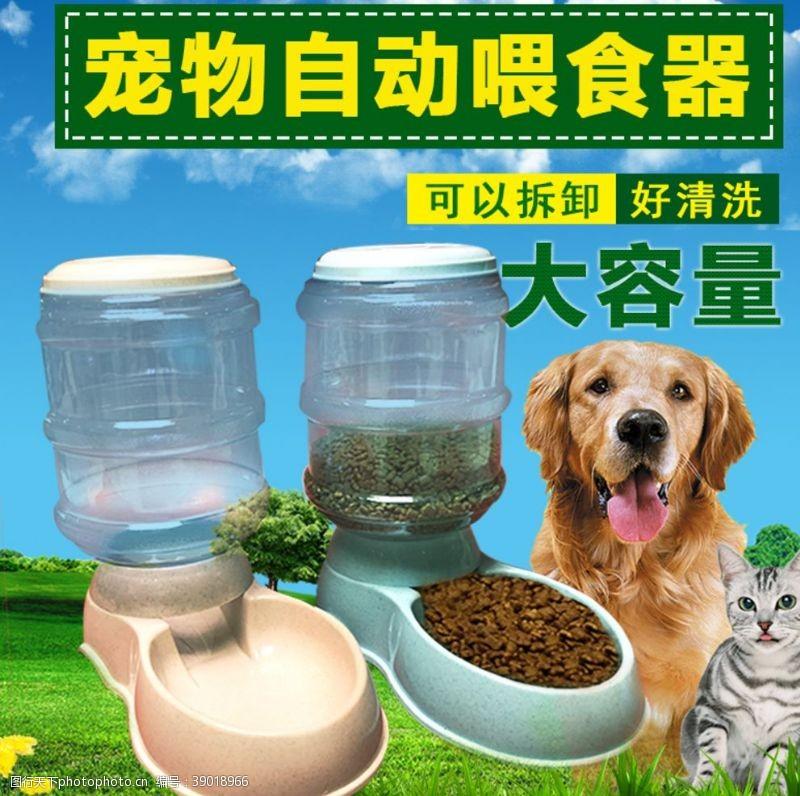 宠物用品 狗猫宠物喂食器淘宝主图图片