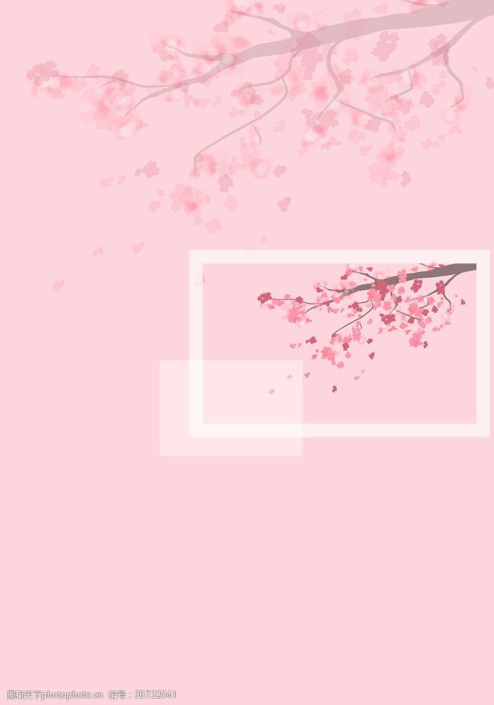 手绘壁纸桃花