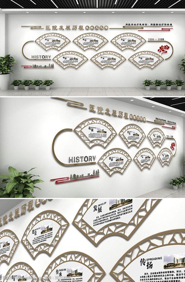 医院文化中国风医院发展历程文化墙